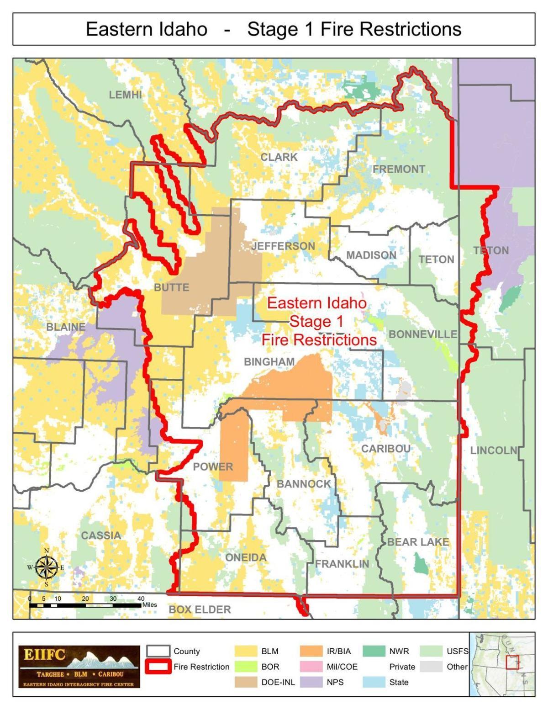 Eastern Idaho fire restrictions
