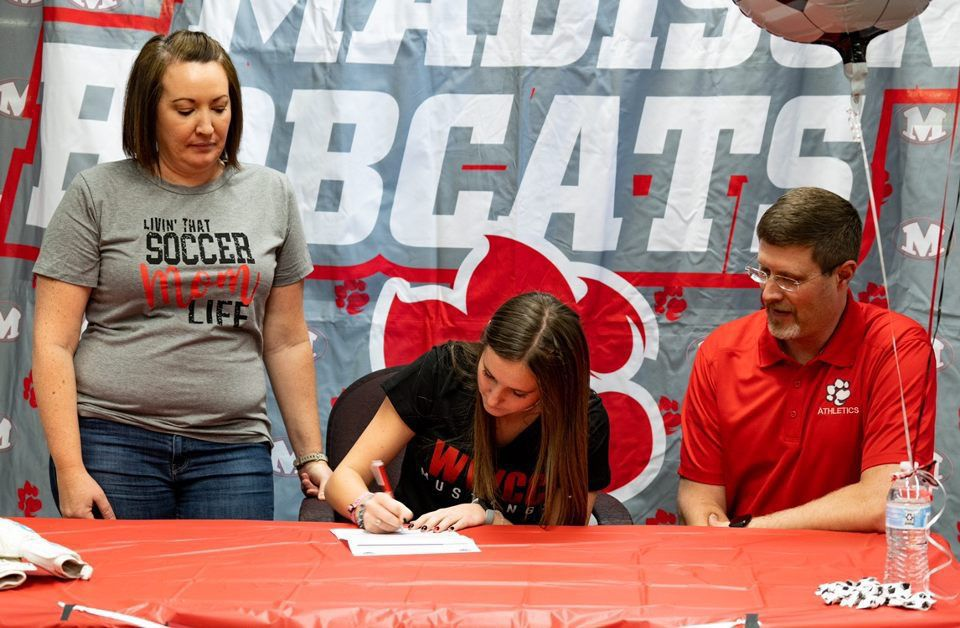 Rachel Hicks signs her letter of intent to play at Western Wyoming Community College