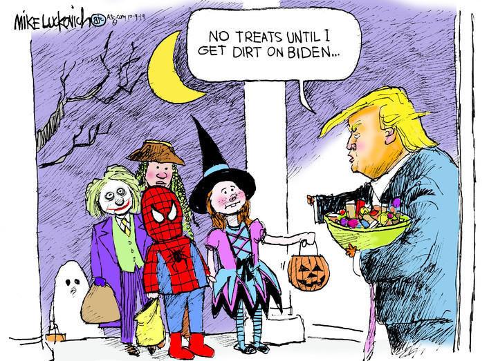 cartoon trick or treat