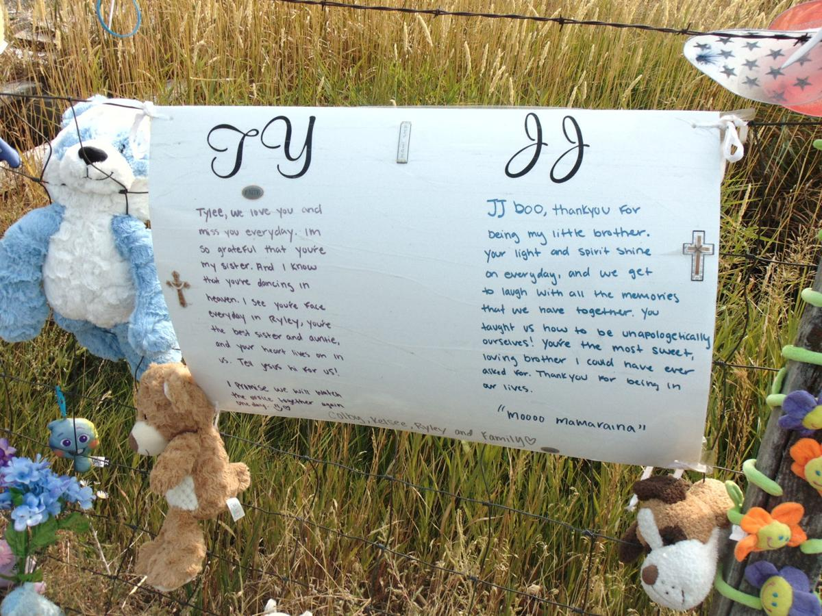 Colby Ryan leaves messages for J.J. and Tylee at new Salem memorial