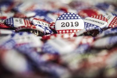 vote 2019 stock photo buttons