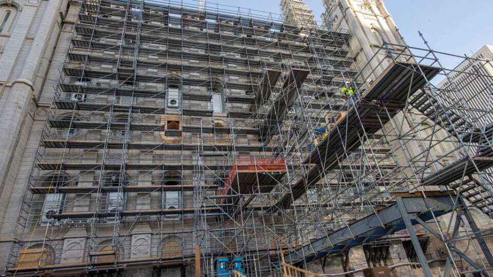 Temple Square Renovation Project Updates: January 2021