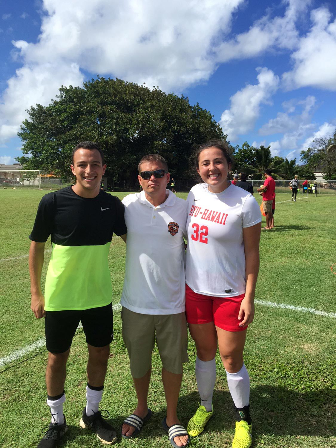 size 40 2727d 442f1 Madison soccer players, coach reunite for BYU–Hawaii's final ...