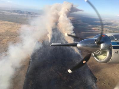 Wildfire near Rexburg