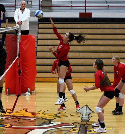 South Fremont's Aysiah Conger hits the ball.