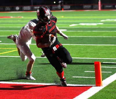 South Fremont running back Jackson Coverley gets in for the score.