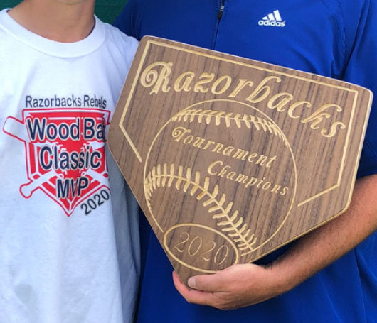 Sugar Club's first-place plaque from the Razorbacks tournament this weekend.