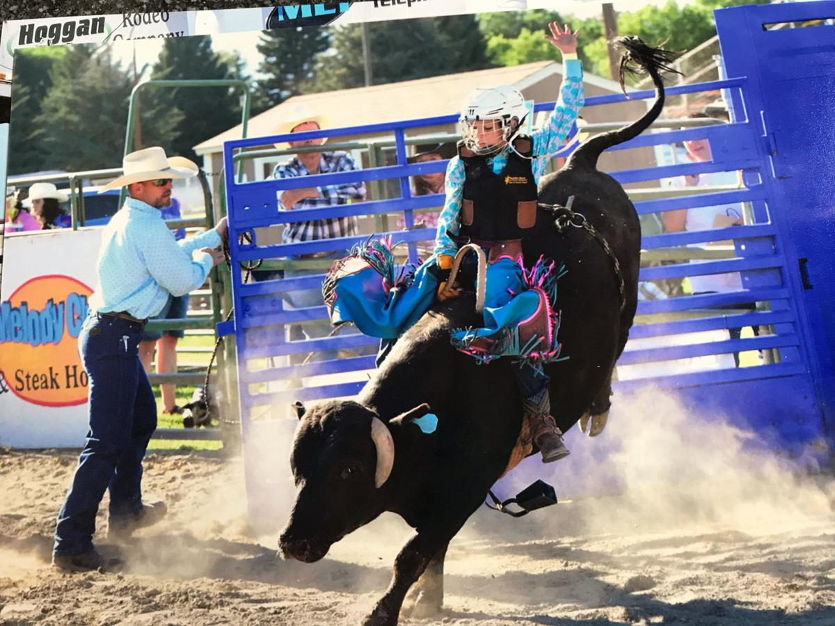 Wesley Zollinger rides an aggressive bull.
