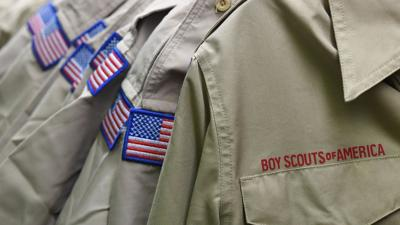 Boy Scouts stock image file photo