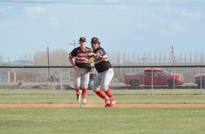 South Fremont's Bryan Popocatl fires a throw to first base.