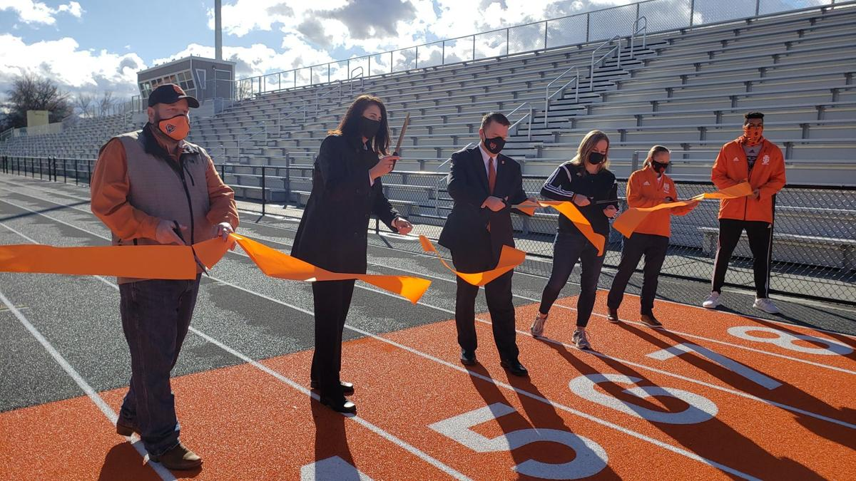 Davis Field ribbon cutting after $7.1 renovation project