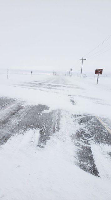 Newdale snowy road