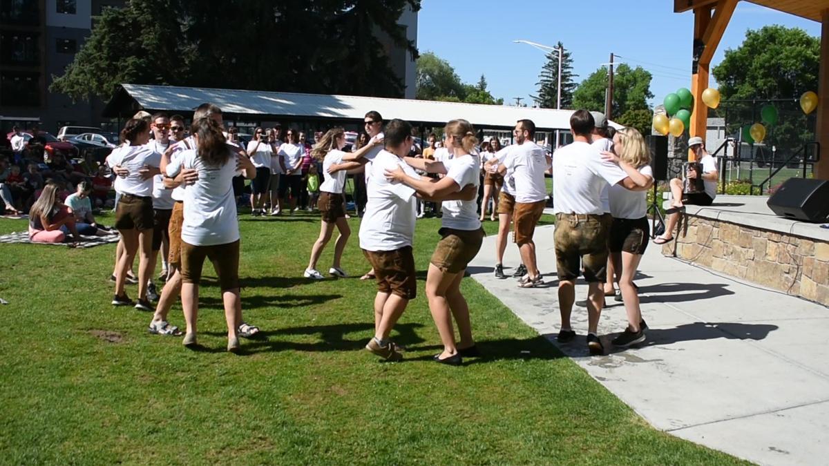 Summerfest dancers celebrate at Porter Park on Saturday