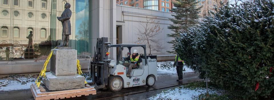 Crews Prepare Salt Lake Temple Grounds for Excavation