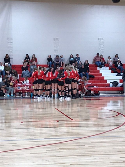 Madison huddles during their 3-0 victory over Highland Thursday.
