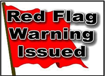 Red Flag warning for Fremont County