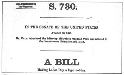 Bill making Labor Day a Holiday
