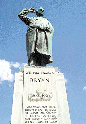 Life-sized William Jennings Bryan  statue will adorn courthouse lawn