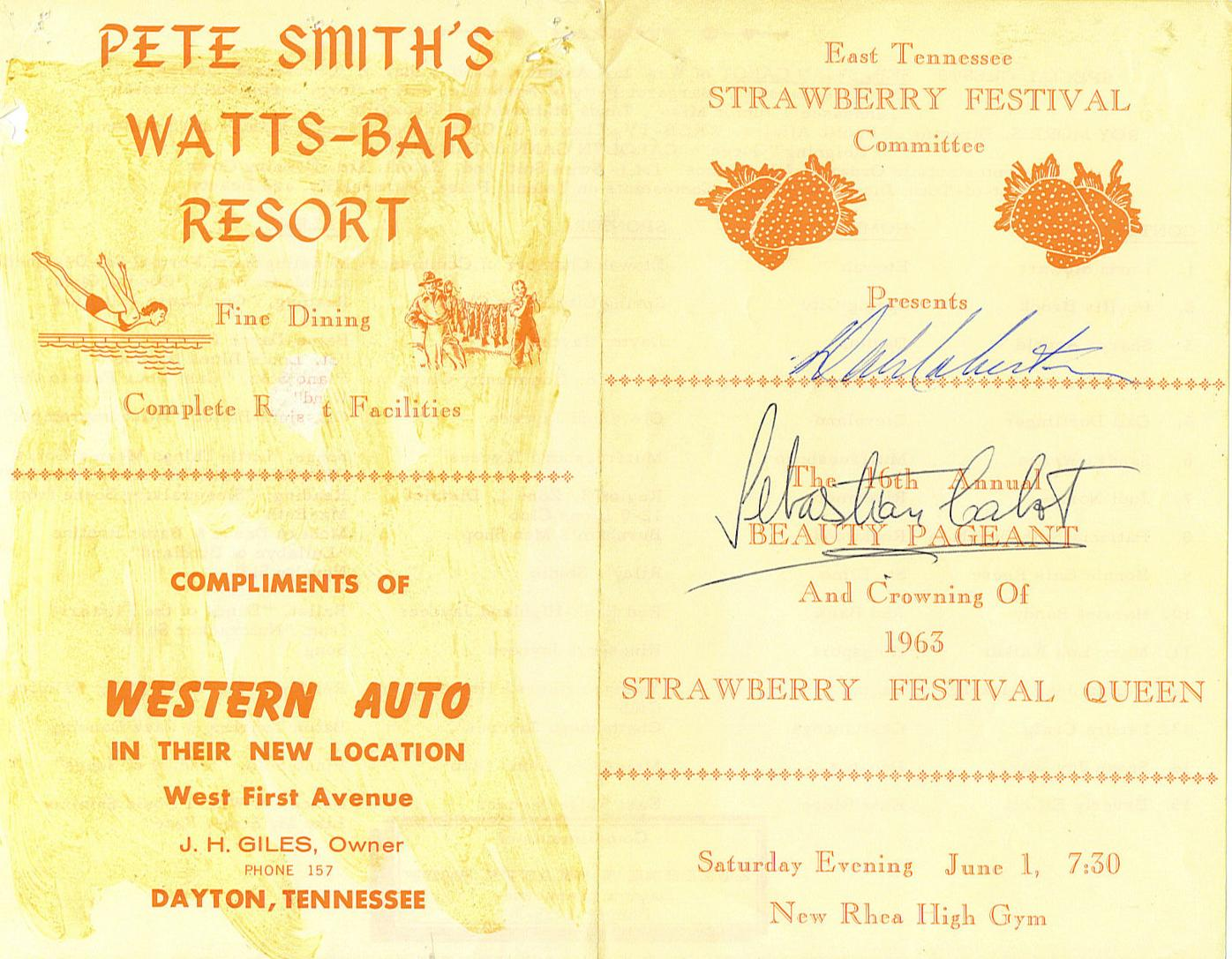 1963 Strawberry Festival Program
