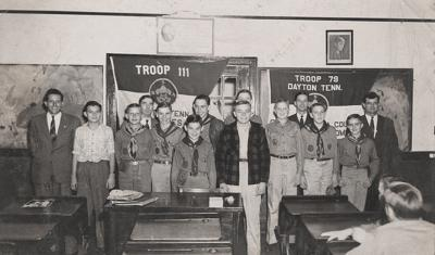 W.E. Robinson and Scout troops