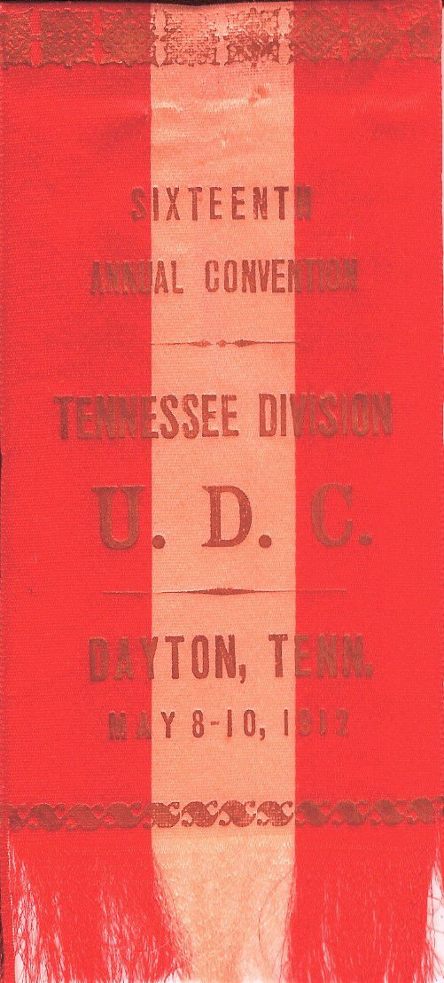 1912 UDC Convention ribbon