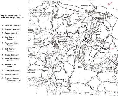 Map of Gum Spring