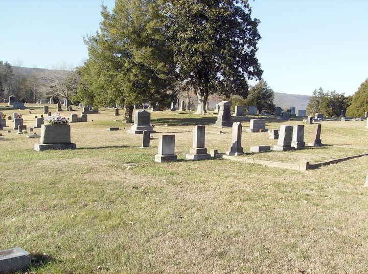 Gravestones at Buttram Cemetery
