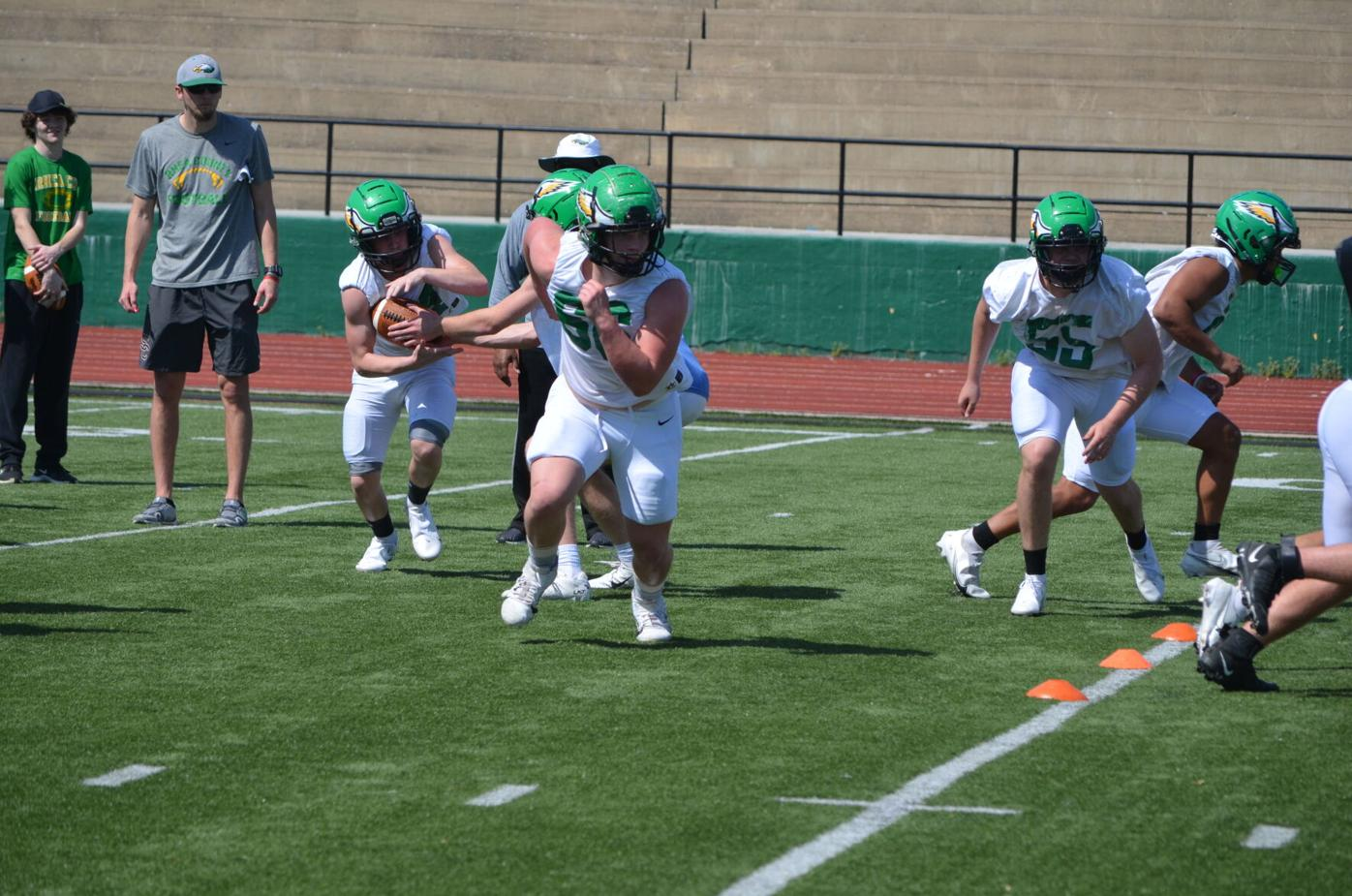 RCHS EAGLE FOOTBALL OPENS SPRING PRACTICE