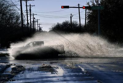 Texas snow melt