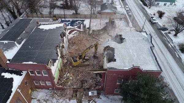 Demolition underway at the YMCA