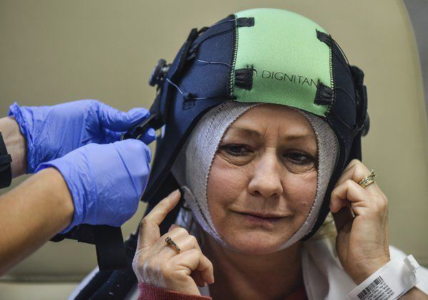 DigniCap helps prevent hair loss in chemotherapy patients