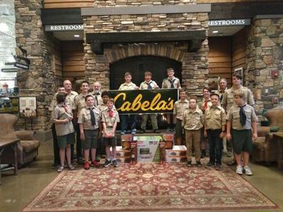 Boy Scouts receive outdoor gear from Cabela's