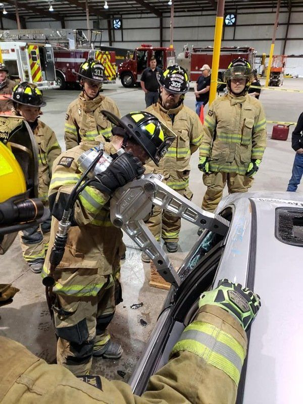 Volunteer firefighters help protect the community