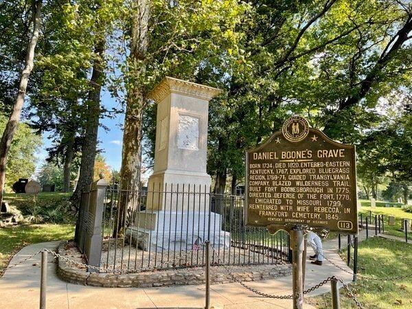Visit the gravesite of Daniel Boone