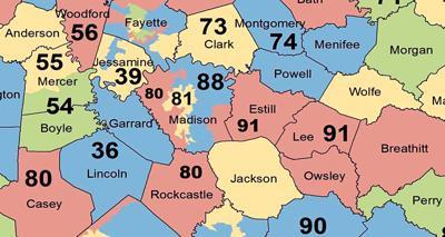 ky congressional map, kentucky senate map, kentucky state house district map, on ky state senate map