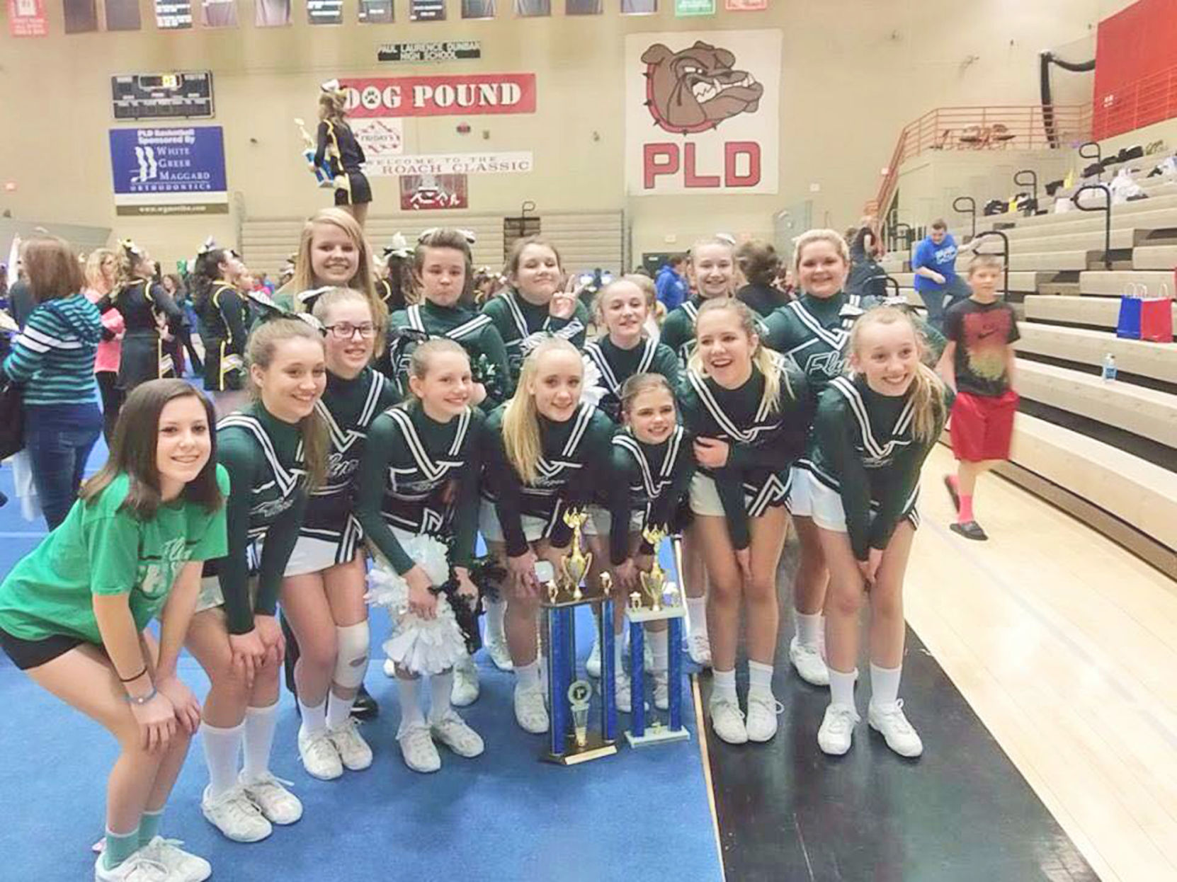 farristown cheerleaders are team spirit state champs
