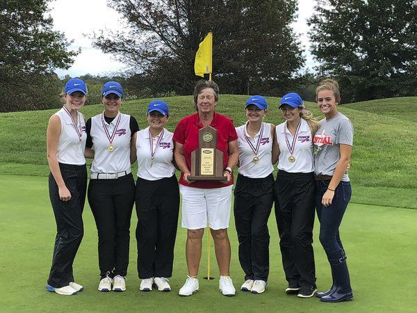 High School Girls Golf Lady Indians Top Lca To Win Region Title