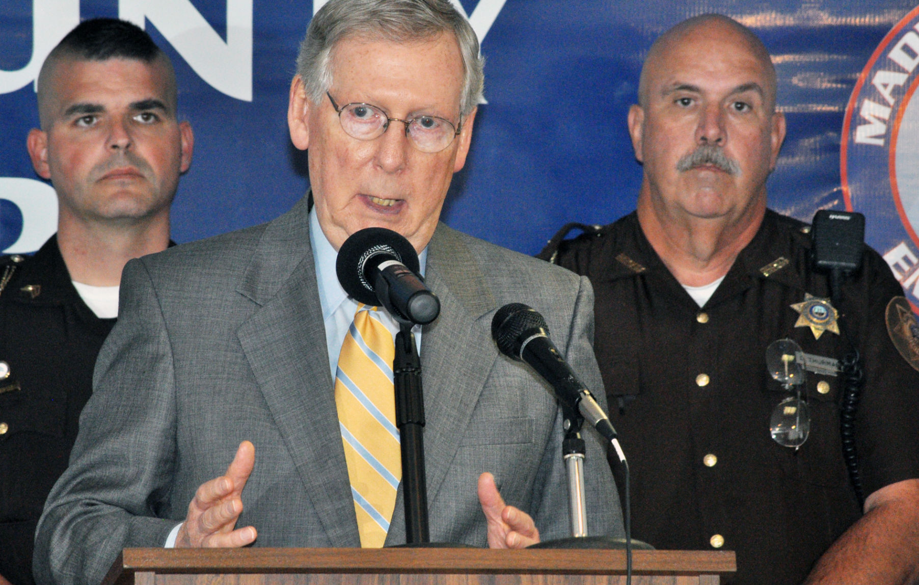 Mitch McConnell R Ky explains his support Thursday