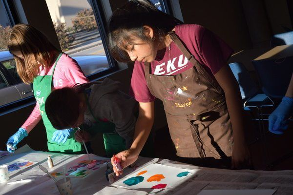 Teens join together to create art at the Berea Madison County Library