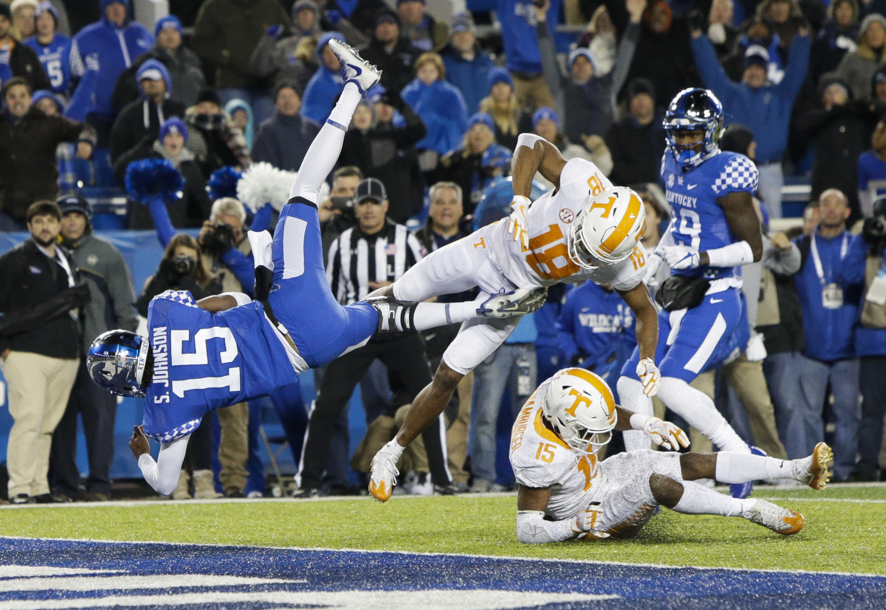 Tennessee Kentucky Football UK FOOTBALL Johnson Wildcats