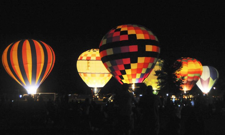 Hot air balloons light up the sky on first night of ...
