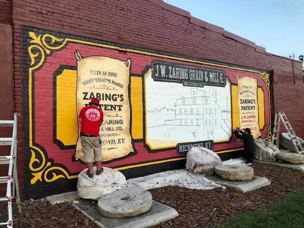 Millstone mural brings to life Richmond's history