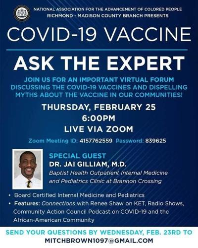 NAACP to host forum on COVID-19 vaccines
