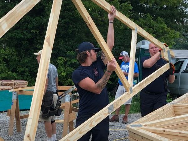 Roof raised on First Responders Build