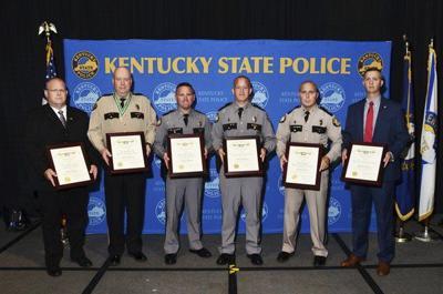 Trooper Purdy receives award