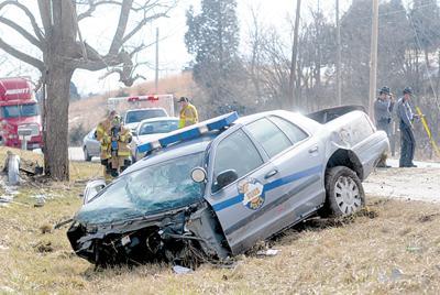 Trooper's wreck snarls traffic | Local News | richmondregister com
