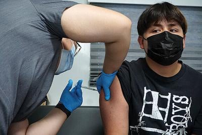 Raydaniel Gets Vaccinated