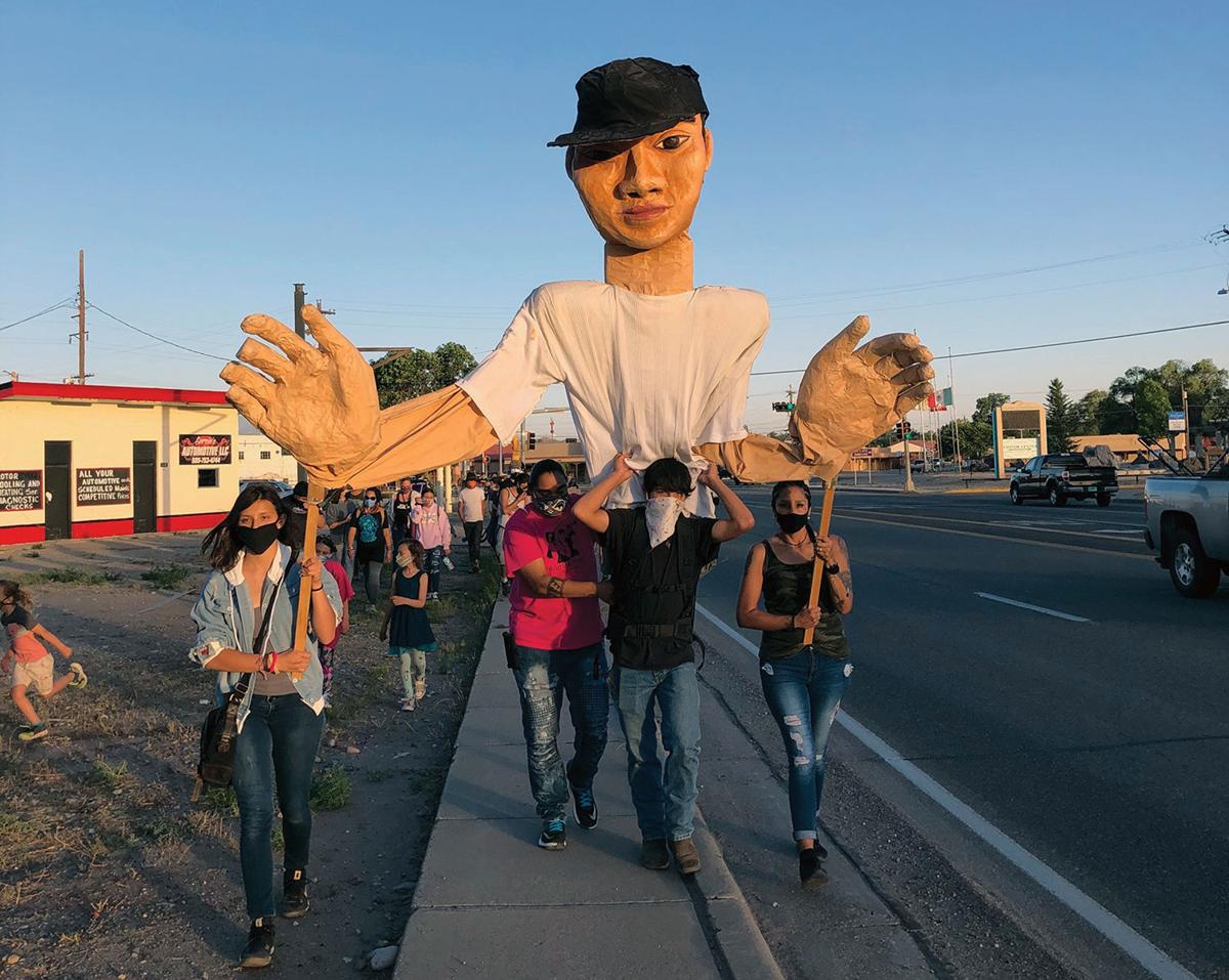 Victor Villalpando effigy in sunset RGB