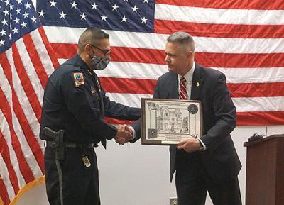 Jimenz accepts plaque