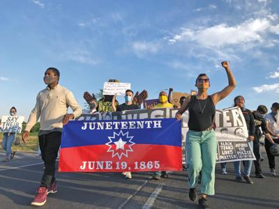 juneteenth protest march